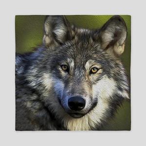 Grey Wolf Queen Duvet