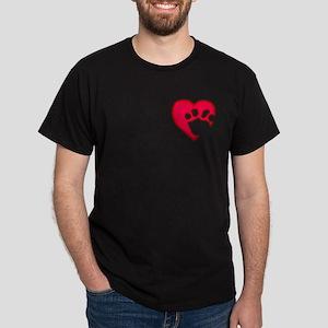 Two Tone Paw 'N Heart Dark T-Shirt
