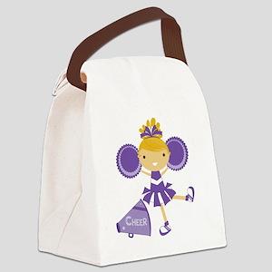 Cheerleader in Purple Canvas Lunch Bag