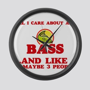 All I care about are Bass Large Wall Clock