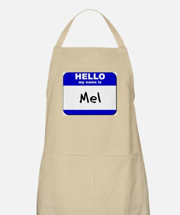 hello my name is mel  BBQ Apron