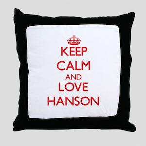 Keep calm and love Hanson Throw Pillow