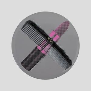 """Grease Lipstick Comb 3.5"""" Button"""
