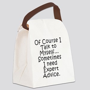 Talk to Myself Canvas Lunch Bag