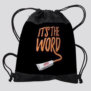 Grease It's The Word Drawstring Bag