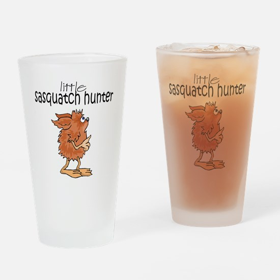 Little Sasquatch Hunter Drinking Glass