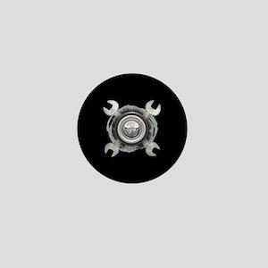Grease Wrench Tire Mini Button