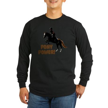 Cute Pony Power Equestria Long Sleeve Dark T-Shirt