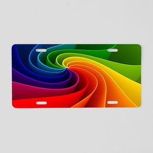 rainbow Aluminum License Plate
