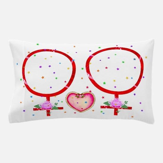 Same Sex Wedding Women Pillow Case