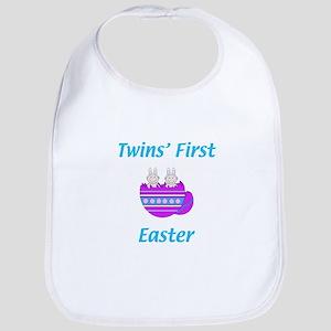 Twins' First Easter Bib