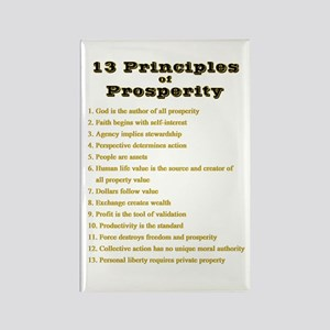 13 Principles Rectangle Magnet