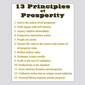 13 Principles Small Poster