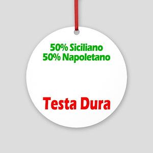 Siciliano - Napoletano Round Ornament
