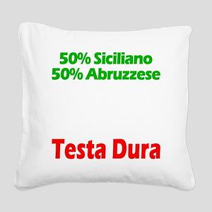 Siciliano - Abruzzese Square Canvas Pillow