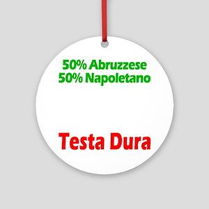 Abruzzese - Napoletano Round Ornament
