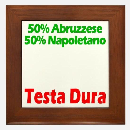 Abruzzese - Napoletano Framed Tile