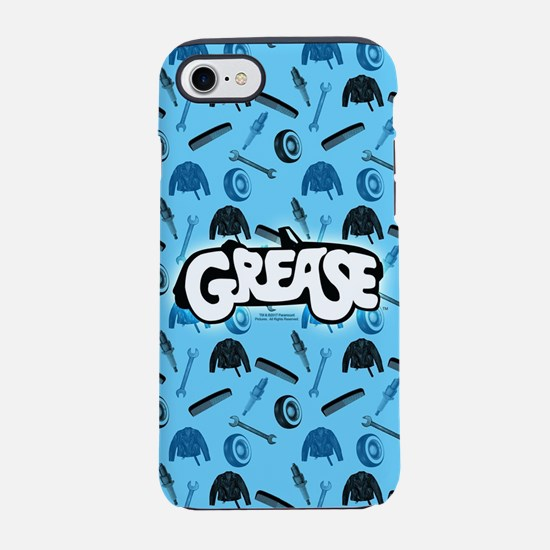 Grease tools pattern iPhone 7 Tough Case
