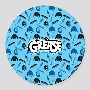 Grease tools pattern Round Car Magnet