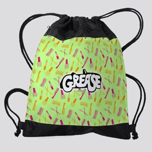Grease Lipstick Comb Pattern Drawstring Bag