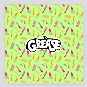"Grease Lipstick Comb Pat Square Car Magnet 3"" x 3"""