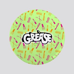"""Grease Lipstick Comb Pattern 3.5"""" Button"""