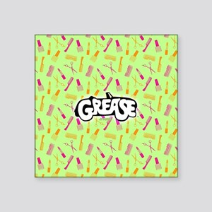 "Grease Lipstick Comb Patter Square Sticker 3"" x 3"""