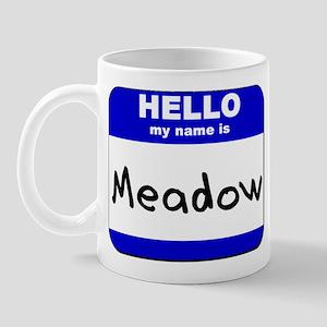 hello my name is meadow  Mug