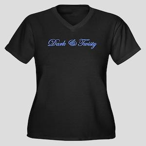 Dark & Twisty Women's Plus Size V-Neck Dark T-Shir