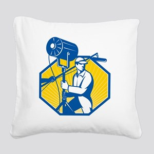 Electrical Lighting Technicia Square Canvas Pillow