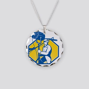 Electrical Lighting Technici Necklace Circle Charm