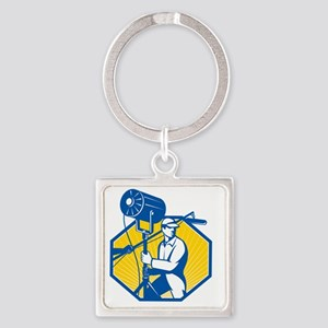 Electrical Lighting Technician Cre Square Keychain