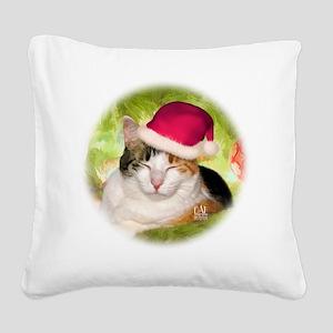 Christmas Calico Square Canvas Pillow