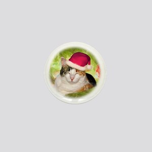 Christmas Calico Mini Button