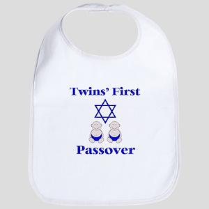 Twins' First Passover Bib