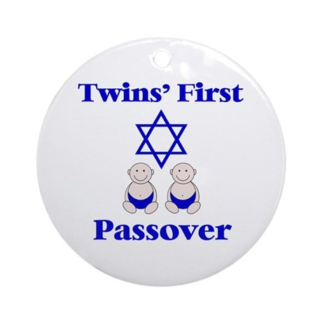 Twins' First Passover Ornament (Round)