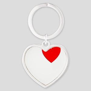 Zeppole Heart Keychain