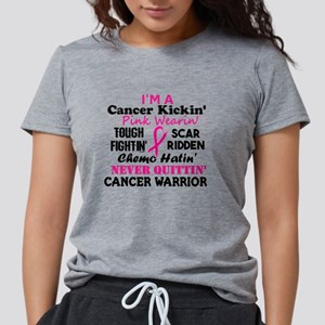 -Cancer Kickin' Cancer Warrior (Breast Can T-Shirt