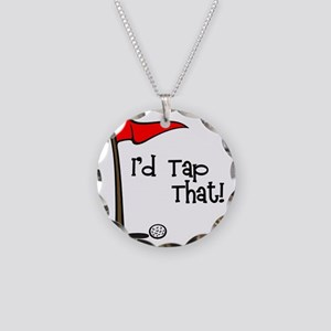 Id Tap That! Necklace Circle Charm