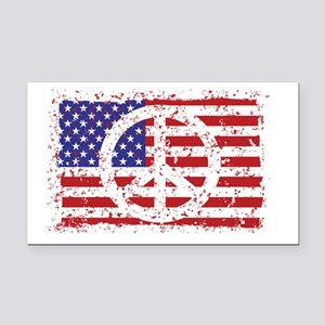 American Peace Rectangle Car Magnet