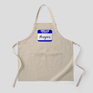 hello my name is mayra  BBQ Apron
