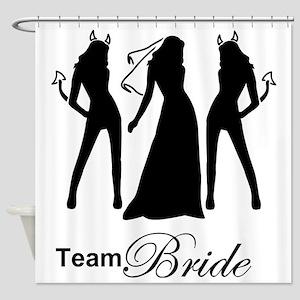 team bride Shower Curtain