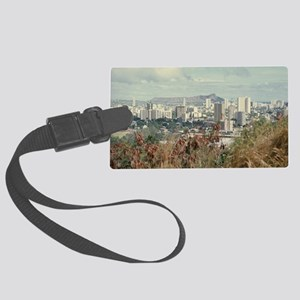"""Honolulu  And  Diamond Head"" Large Luggage Tag"