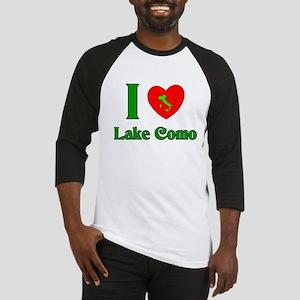 I Love Lake Como Italy Baseball Jersey