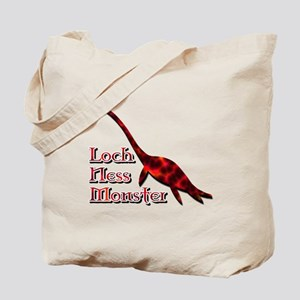 Loch Ness Monster Dark Red Tote Bag