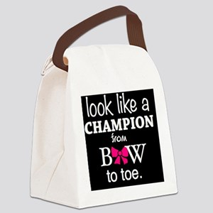 Look Like a Champion From Bow to  Canvas Lunch Bag