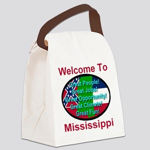 Welcome to Mississippi Canvas Lunch Bag