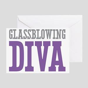 Glassblowing DIVA Greeting Card