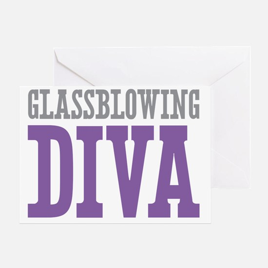 Glassblowing DIVA Greeting Card