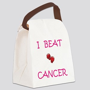 I Beat Cancer Canvas Lunch Bag